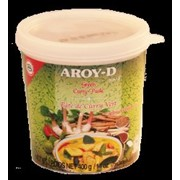Зеленая паста Карри Aroy-D, 400 гр. фото