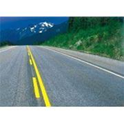 Термопластик для разметки дорог желтый со СМШ фото