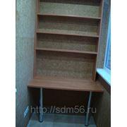 Столи и стеллаж на балкон фото