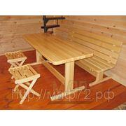 Стол деревянный для дачи из комплекта №1 фото