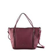 Бордовая женская сумка-шоппер Angelo Bianco фото