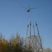 Работы ремонтно-строительные с применением вертолетов. фото