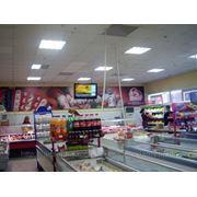 Размещение рекламы на мониторах в супермаркетах фото
