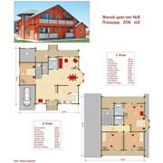 Проект жилой дом тип №8 206 м² фото