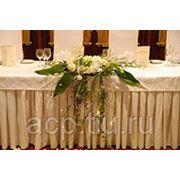 Прокат прямоугольных банкетных столов фото