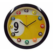 """Часы настенные """"Девятка"""" с шарами фото"""