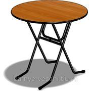 Стол складной коктейльный (круглый) фото