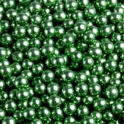 Шарики сахар.зеленые 5 мм.металл (100 гр.) фото
