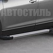 "Порог - площадка RIVAL ""Silver"" для Mitsubishi Pajero Sport 2008-2013-2016 фото"