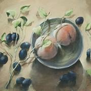 Натюрморт с персиками фото