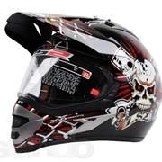 Мотошлем LS2 MX433 Skull Red/Black фото