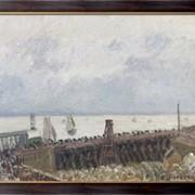 Картина Вход в порт Гавра, пасмурная погода, 1903, Писсарро, Камиль фото