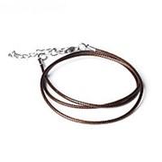Шнурок 43 см + удлинитель, цвет коричневый, d=1,5 мм фото