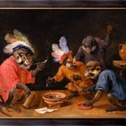 Картина Обезьяны пьют и курят, Тенирс, Давид фото