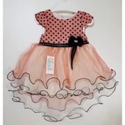 Детское нарядное платье- ассиметрия в расцветках, Турция. МО-1-1218 фото