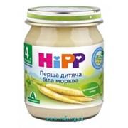 Пюре Hipp 125г Первая детская белая морковка NEW фото