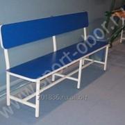 Скамейка со спинкой, 2000х400х800мм, 3 опоры с прямой спинкой Артикул: СЛ.2.20 фото