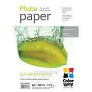 Самоклеющаяся бумага CW глянцевая 115/80g/m2, A4, 50л (PGS1158050A4), код 43503 фото