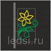 Световой кронштейн «Лотос (меняется на снежинку)» фото
