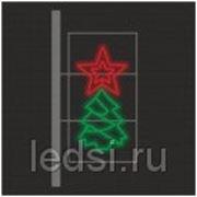Световой кронштейн «Нарядная ель» фото