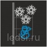 Световой кронштейн «Снеговик» фото