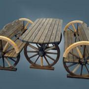 Стол и лавки на колесах фото