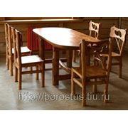 Эскизная прорисовка интерьера с элементами мебели из массива дерева фото
