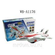 Самолет, эл/мех, световые и звуковые эффекты, пластмасса, в коробке, 25,5х15,5х7,5см (826608) фото