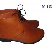 Кожаные фабричные женские туфли (ботинки) фото