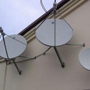 Осуществление монтажа спутниковых телевизионных антенн фото