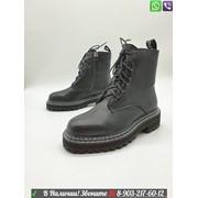 Высокие ботинки Proenza Schouler кожаные черные фото