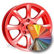 Порошковая покраска дисков для автомобиля. фото