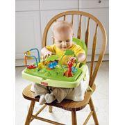 Прокат Детский стульчик бустер для кормления «Тропический лес» Fisher-price фото