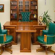 Кабинет для директора, Кабинеты для руководителей в Киеве Украине. Офисная мебель для кабинета руководителя офиса, столы в кабинет ПРЕСТИЖ фото