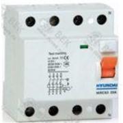 Устройство защитного отключения HIRC63 4PG4S0000C 00025G , 4P, 25A, 30mA