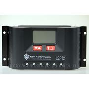 Контроллер заряда с ЖК дисплеем 12 в 30 Амп фото