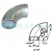 Отвод оцинкованный крутоизогнутый стальной 27x2,5 мм ГОСТ 17375-01 фото