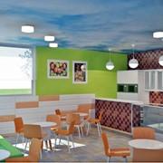 Проект с 3D-визуализацией детского кафе фото