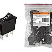 Клавишный переключатель YL-202-01 черный 3 положения 1з+1з TDM фото