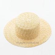 Соломенные шляпы канотье фото