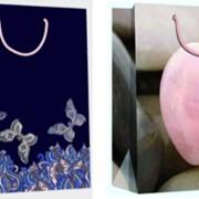 "Пакет подарочный ламинированный ""Сердечки/бабочки"", 19х9х25см, 2 диз, (Karotti) фото"