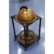 Напольный глобус бар, диаметр глобуса 42 см фото