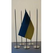 Флагшток настольный металлический одинарный фото