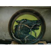 Декоративное блюдо «Вороной конь» фото