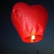 Небесный фонарик Сердце фото