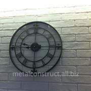 Часы настенные из кованого железа (5) фото