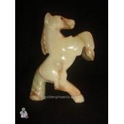 Статуэтка Лошадь из оникса (10 см.) фото