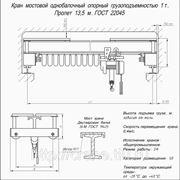 Кран-балка однобалочная опорная грузоподъемностью 1т., пролет 13.5м, т.: (863) 207-27-26 фото