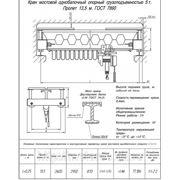 Кран мостовой однобалочный опорный г/п 5т L13,5 фото