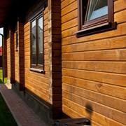 Деревянные дома из клееного профилированного бруса. фото